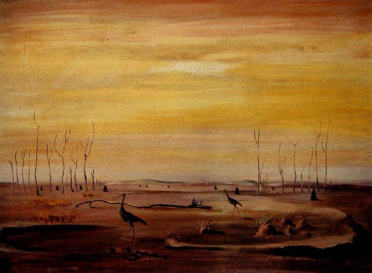 Brolgas at Giru George Russell Drysdale (1912-81) Australia