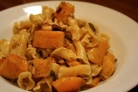 Butternut Squash and Pine Nut Pasta by laura pants, via Flickr