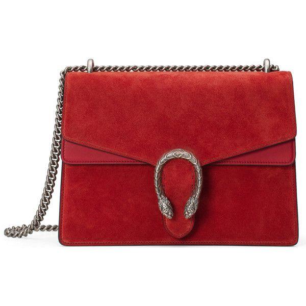 Gucci Dionysus Suede Shoulder Bag ($2,115) ❤ liked on Polyvore featuring bags, handbags, shoulder bags, bolsas de lado, gucci, red, women, gucci handbags, red suede handbag and antique purses