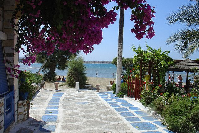 naxos town beach, Greece