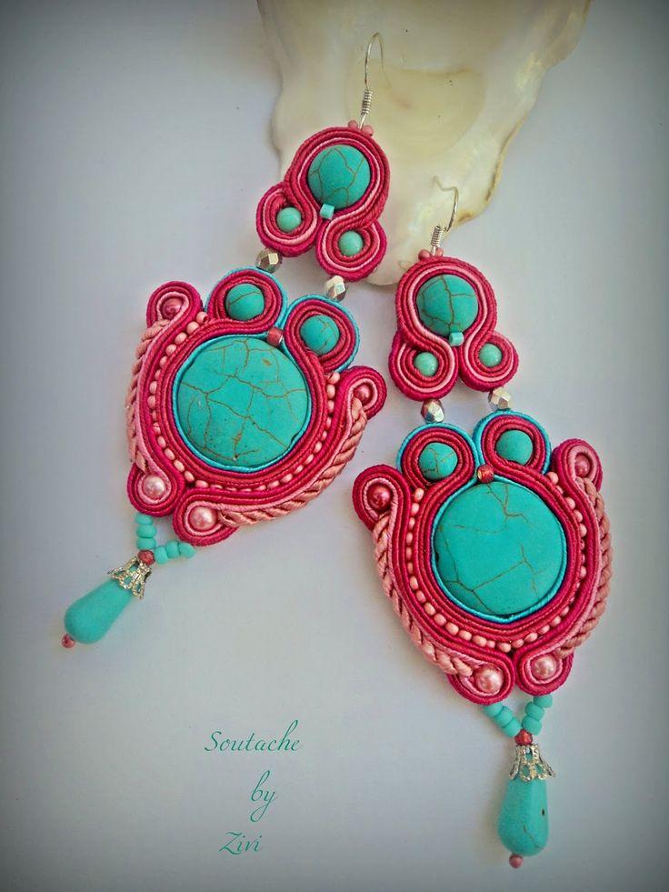 El Rinconcito de Zivi: pendientes de soutache, pendientes flamenca soutache…