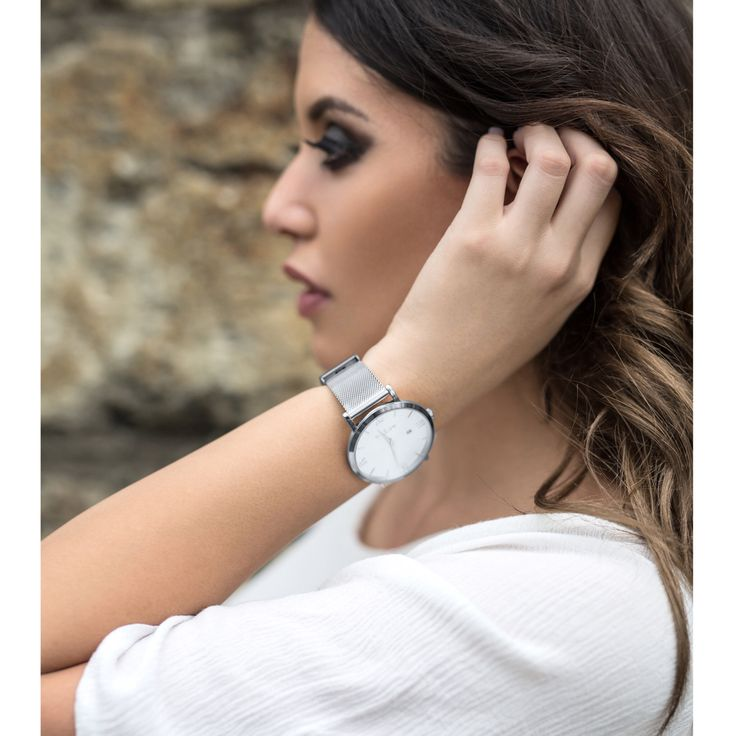 Classic silver watch ~ Willow Watches ~ Endless Combinations.
