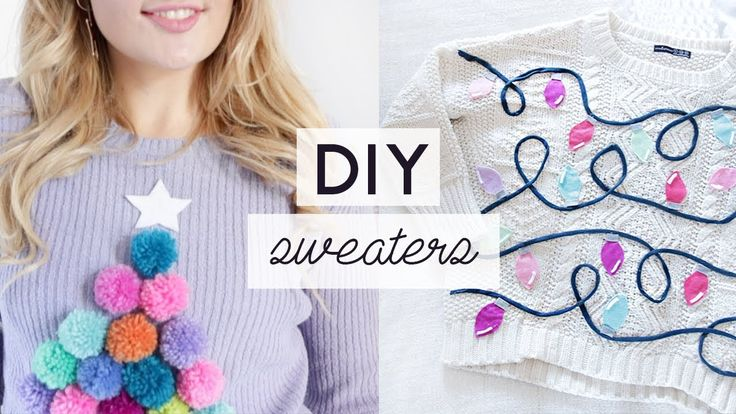 DIY Ugly Christmas Sweaters  Easy and Cheap Christmas Jumpers
