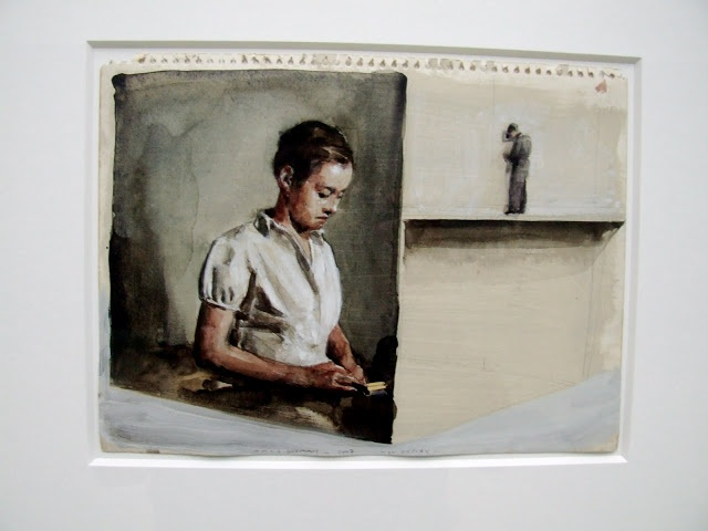 """On Display"" drawing by Michael Borremans (2007)"