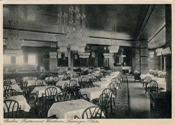 Wertheim Leipziger Straße Restaurant, Berlin | Photo of 1927.