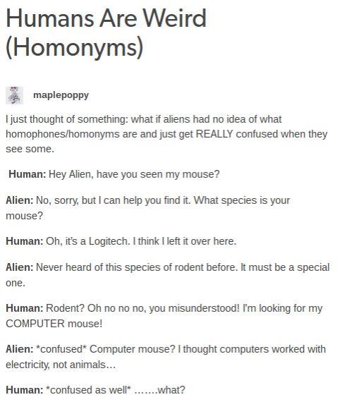 Humans Are Weird / Space Australia Homonyms