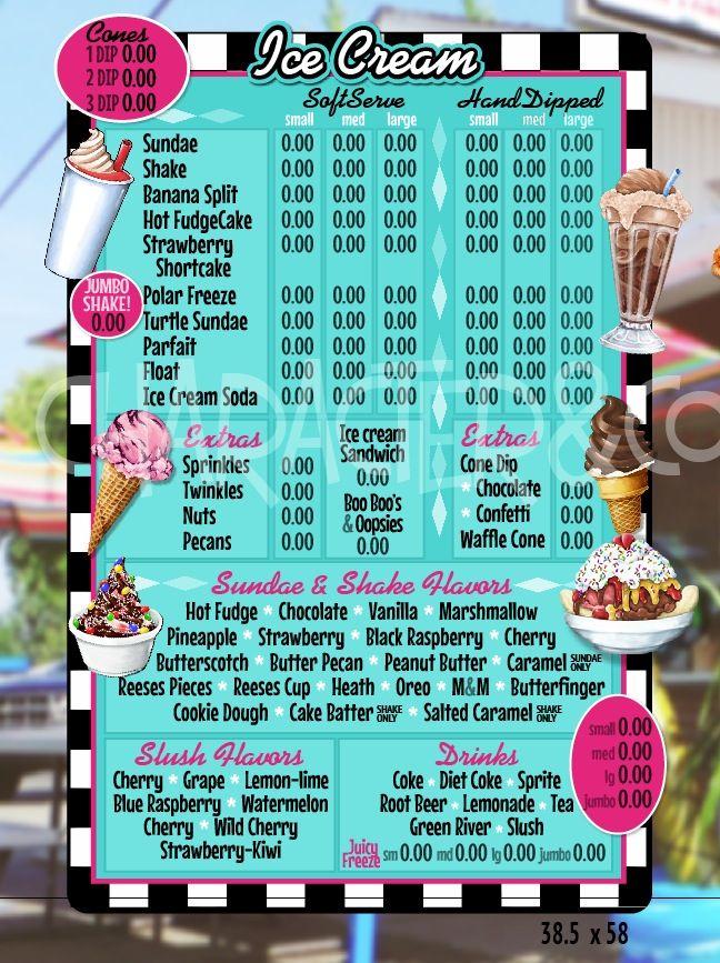 Custom Confections Food Truck Menu