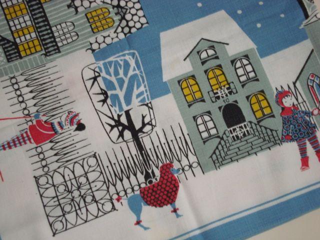 Retro Christmas Swedish textile tablecloth - 1970s. #retro #swedish #christmas #textile #1970 #kajsanordström #julköping #svenskjul #tekstil #juledug. From www.TRENDYenser.com. SOLGT/SOLD.