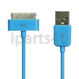 Dockconnector naar USB Kabel iPad, iPod en iPhone Blauw