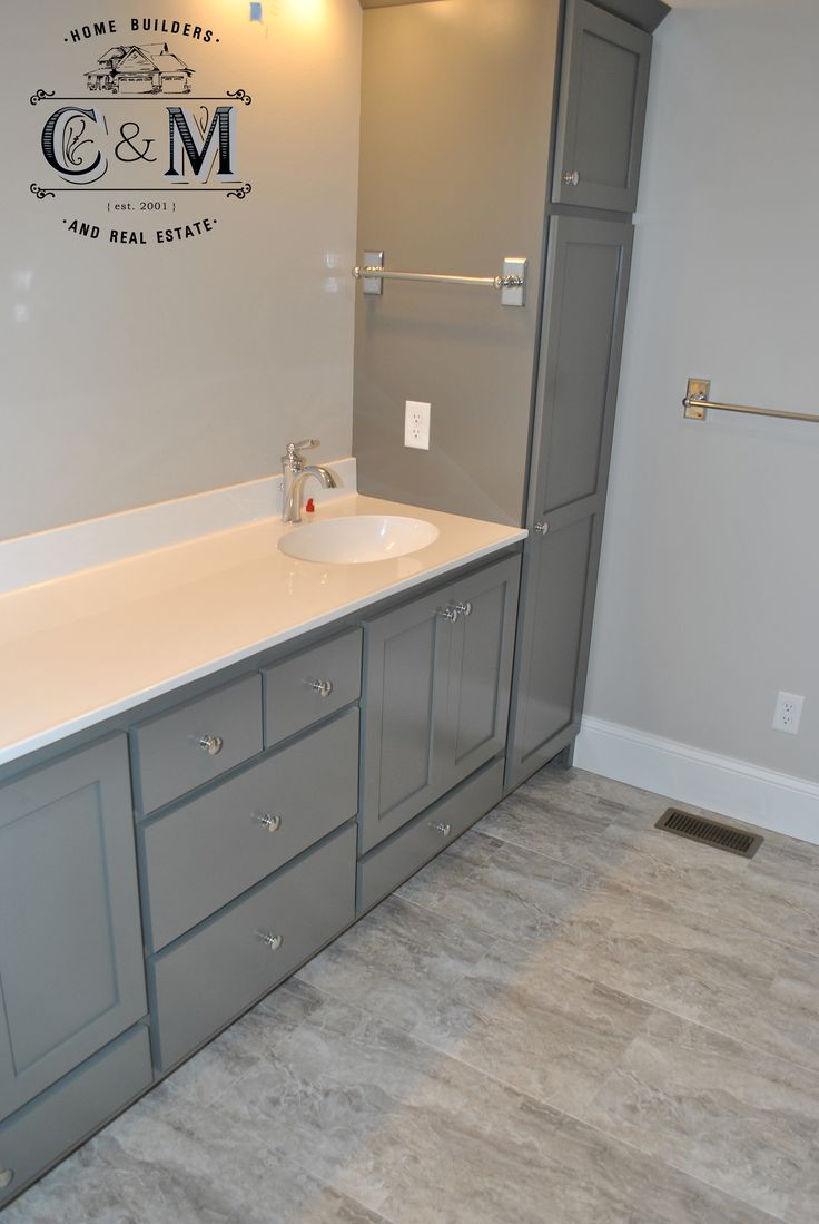 grey and white elegant tones in this bathroom cm home builders and real estate - Bathroom Remodel Eau Claire Wi