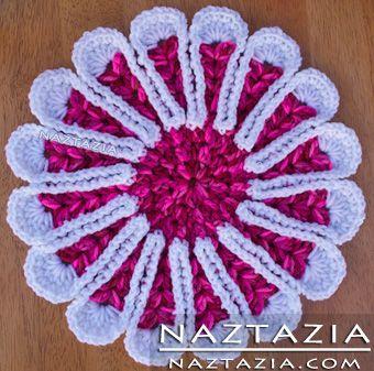 Free Pattern - Crochet Flower Hotpad Potholder