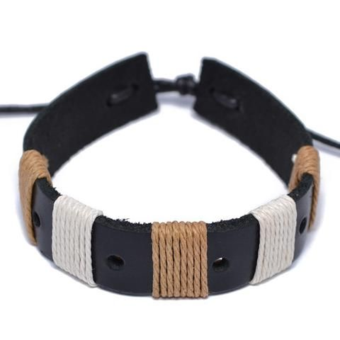 """Buy Men's Leather Bracelets Braided online in USA at affordable price. Choose from the wide range of unique & designer Men's Black Leather Bracelet collection at SMJ"""" Contact us for the latest black leather now!"""