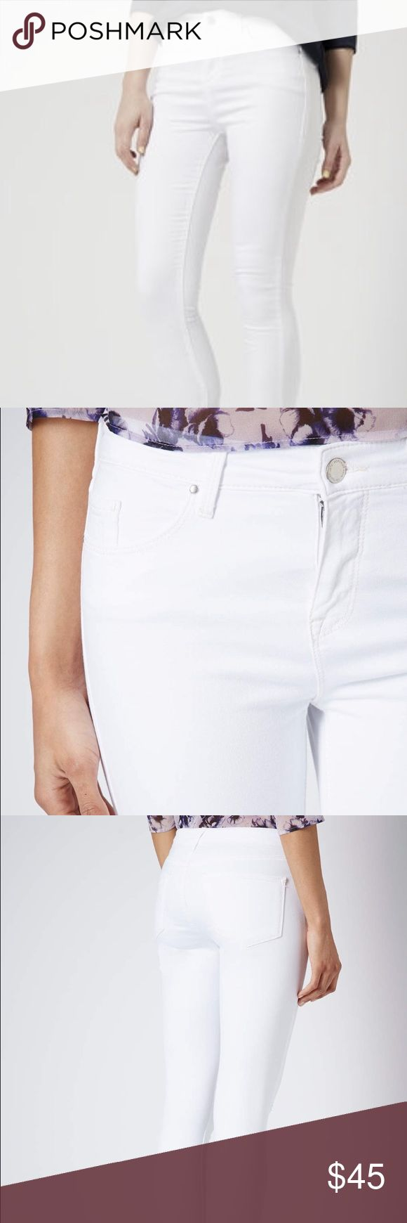 Topshop Leigh White Ankle Grazer Jean NWT. NO TRADES Topshop Jeans Skinny