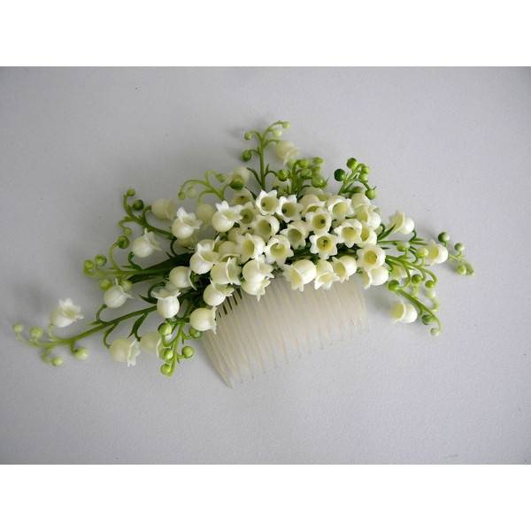Lily of the Valley hair comb ($45) found on Polyvore