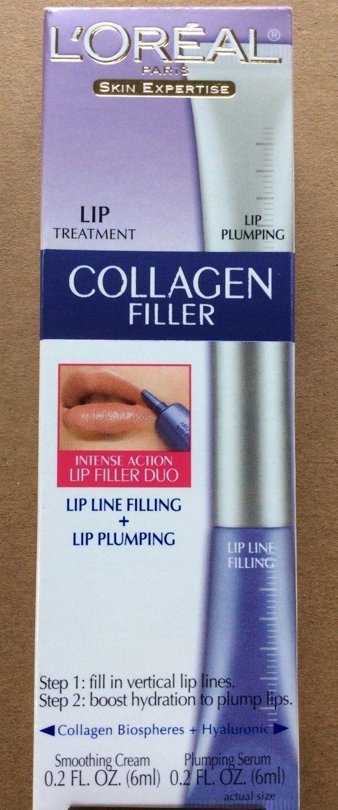 L'Oreal Paris Skin Expertise Lip Treatment Collagen Filler In Box.