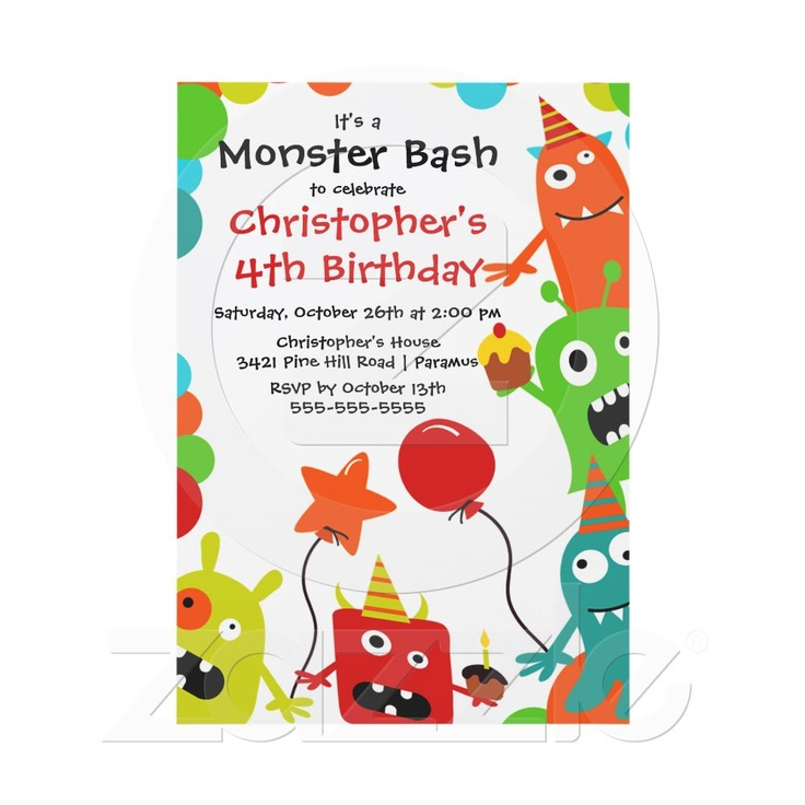 The 25+ best Monster party invites ideas on Pinterest | Monster ...