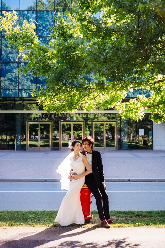 Wedding photo shoot near the university of British Columbia (UBC), Vancouver, BC, Canada