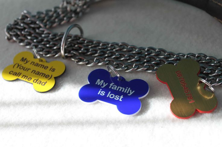Personalized Engraved Bone Shape Pet Dog Cat Tag Id  With Ring laser engraving | eBay