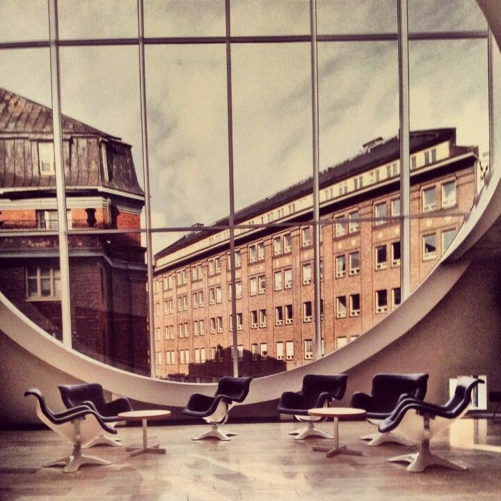 Karuselli - chairs by Yrjö Kukkapuro at Helsinki University main library - 1964