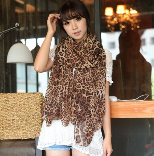 Free shipping!Scarf Women 2014 Autumn And Winter Female Great Leopard High-grade Loyer Long Scarf Dual-purpose!#M217