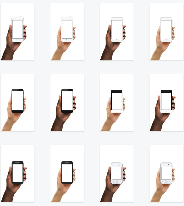Diverse Device Hands — Facebook Design Resources