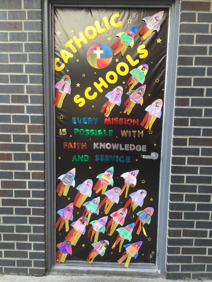 Catholic Schools Week Door Decoration