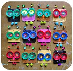 crafts from milk bottle lids | ... of flattened soya pudding pots, milk bottle lids and vintage buttons
