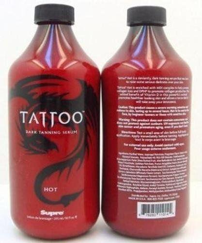 1 bottle of hot dark tanning serum tattoo tanning for Best sunblock for tattoos