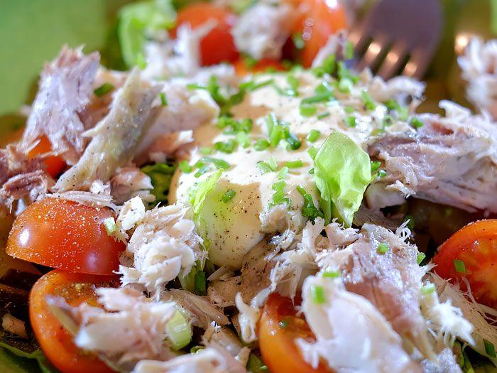 Een lekker snelle makreelsalade