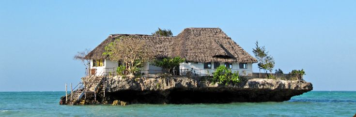 The Rock restaurant. Zanzibar, Tanzania