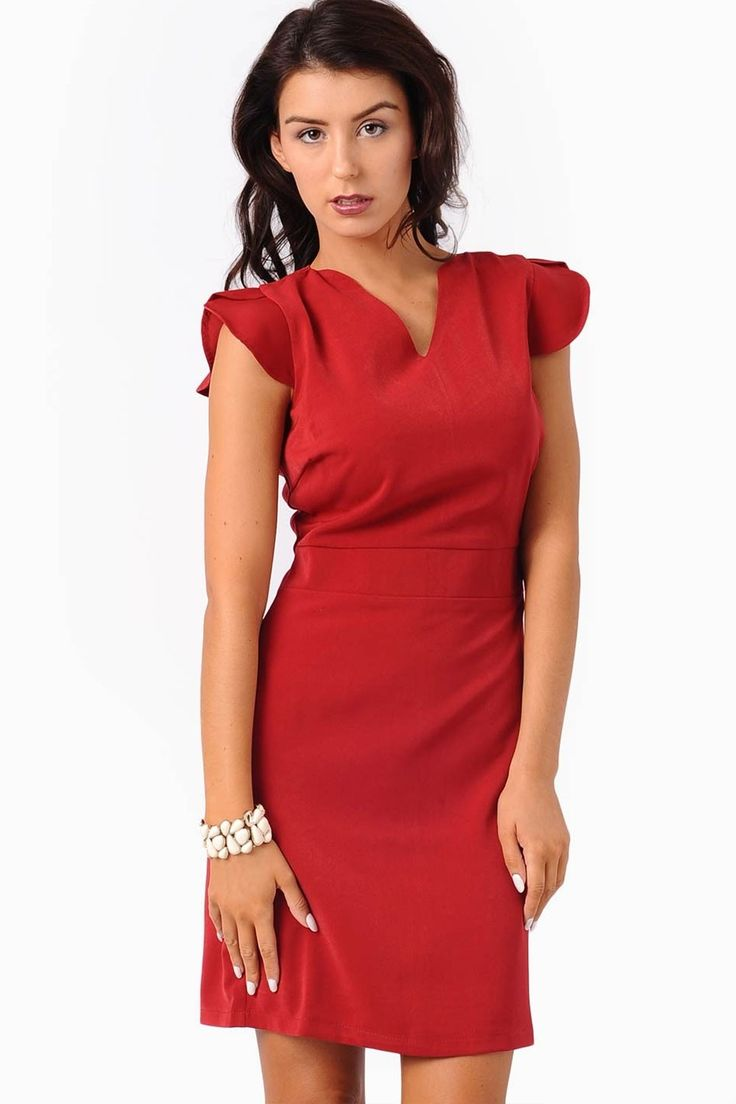 Classic shift dress perfect for either day or night. Team with a smart blazer for the office or high heels and an oversized clutch for an instant glamour.    - Cap Sleeves  - V neckline  - Concealed zip at the back  - Fully Lined  - Midi Length