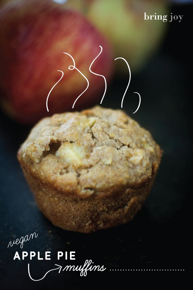 Apple pie muffins ! These wound be absolutely delicious!!! These aren't just applesauce muffins...You get little bite sized apple pieces + apple pie spices creating an Apple pie in muffin form!!!!! I can imagine serving these warm straight out of the oven and the aroma would be amazing! #vegan #gf Low fat options too!