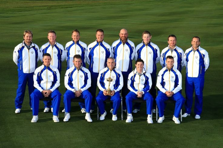 2014 European Ryder Cup Team in ProQuip Golf waterproofs (photo Getty Images Dave Cannon)