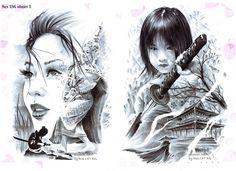 Bullet BG tattoo flash sets