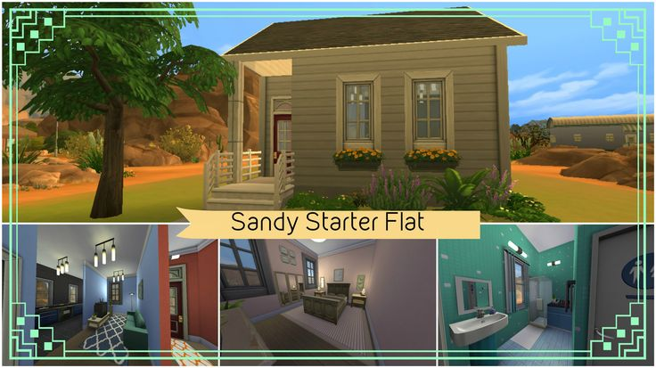 Sandy Starter Flat - Sims 4 speed house build #4