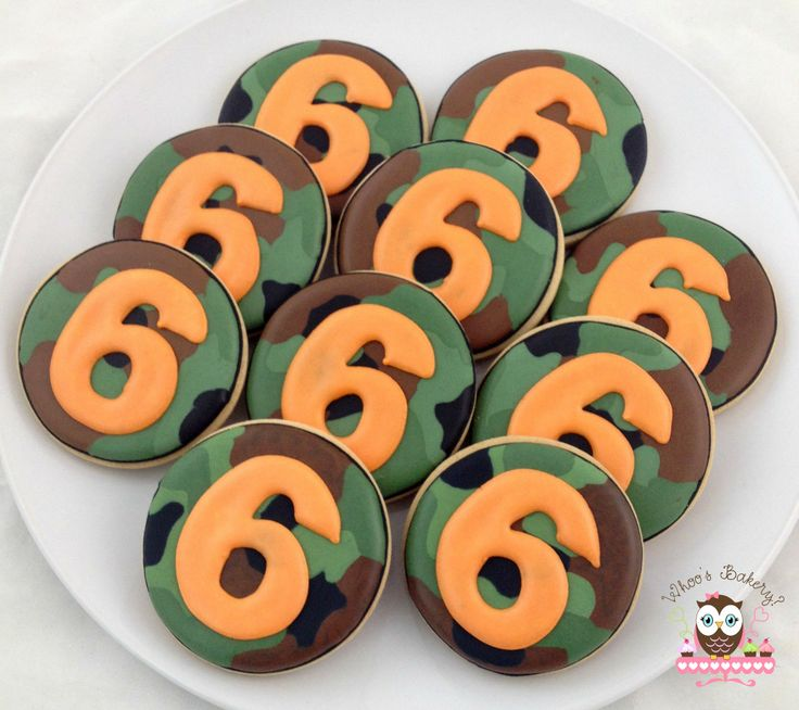 Camouflage Cookies!  Camo party, camo cookies, army party, army party cookies