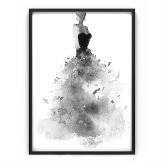 The Feather skirt poster by The Nordic Poster is an abstract illustration printed on matte uncoated photo paper. The poster is a great way to add a soft, yet striking piece of art to your bedroom or living room and looks great both with and without a frame.