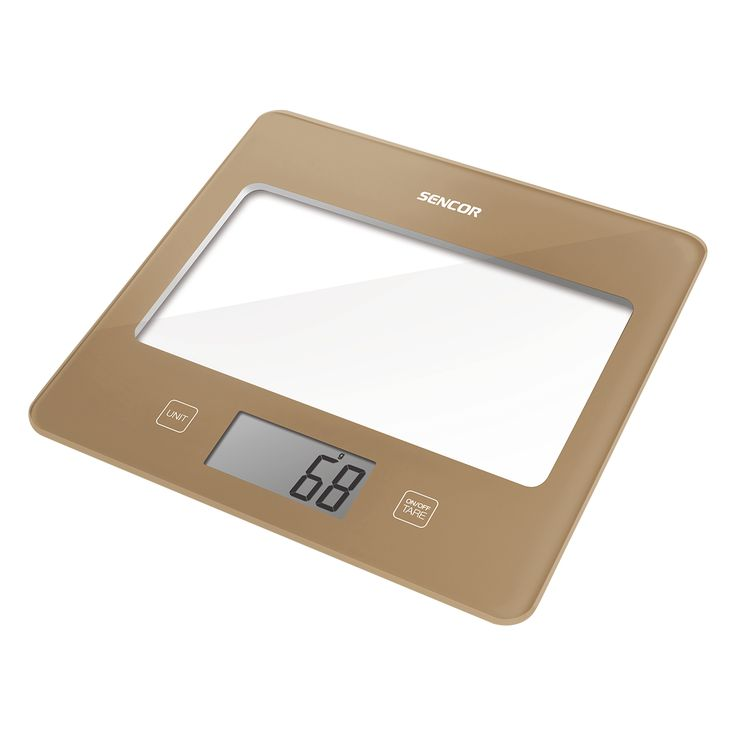 Sencor Kitchen Scale SKS 5011BE - Ultra slim design (height only 16 mm) - Large LCD display (55 x 25 mm) - Successive weighing function