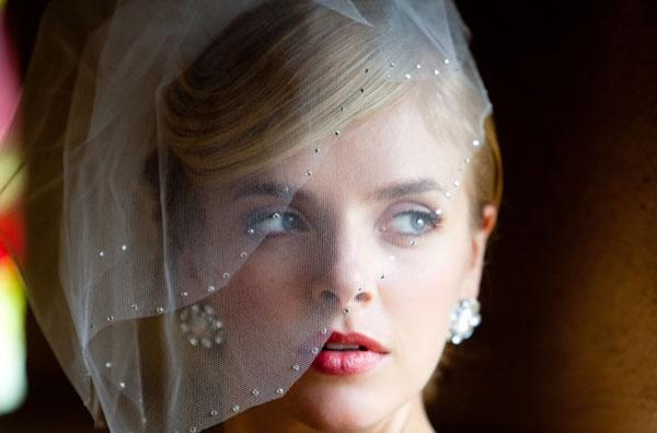 Véu gaiola com brilhantes. #casamento