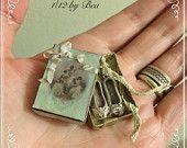 1/12 caja de estilo victoriano con ballet girl zapatos hechos a mano por miniaturas de dollshouse Bea - metal