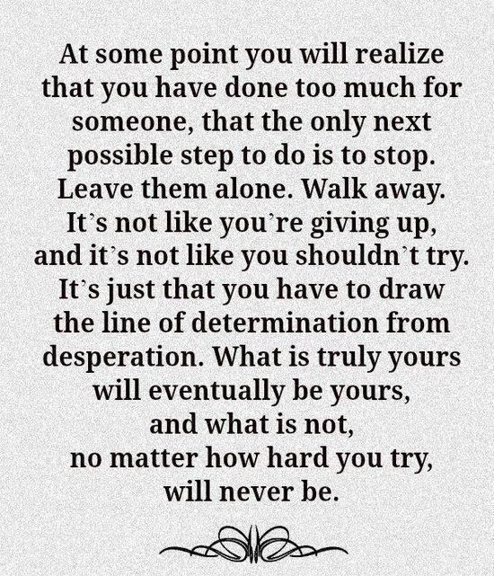 At some point you will realize...