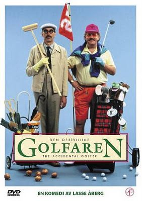 Lasse Åberg movie. Stig Helmer go to Scotland and learn how to play golf.