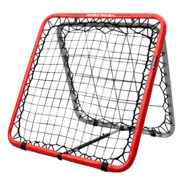 Crazy Catch Wild Child Double Trouble by Podium 4 Sport -  The Crazy Catch Wildchild Double is the ultimate reaction trainer on the market and the only rebound net with TWO INSANE sides – one for a smaller ball and the reverse side for larger balls making it the perfect training aid for sports like Football, Netball, Volleyball, Rugby, Basketball and Handball.  Improve your hand eye coordination and reaction speeds.