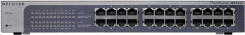 NETGEAR ProSafe 24-Port Fast Ethernet Unmanaged Plus Switch JFS524E by Netgear. $89.99. From the Manufacturer                The NETGEAR JFS524E ProSafe Plus 24-Port Fast Ethernet Switch offers growing businesses great network performance and reliability with ease of use. With 24 ports delivering up to 200Mbps bi-directional bandwidth on each port, your business will have a fast, reliable network up to ensure your critical needs are met. The ProSafe Plus Switch allows comp...