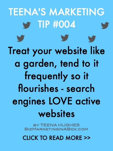 If you had a garden you'd water it and nurture it. Same goes for websites -- ignore them and they'll die, nurture them weekly and they'll thrive, they're here for the long haul if you are too.