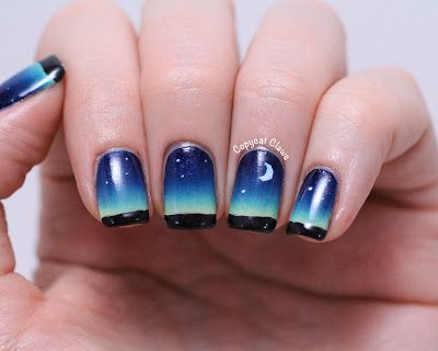Gorgeous night sky nails
