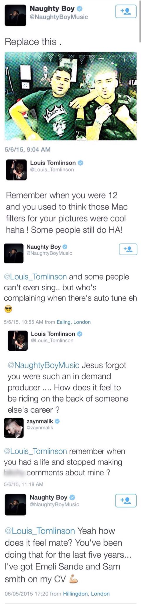 SLAY LOU!!! Zayn is such a jerk. Trying to be mean to his ex band member. Zayn needs a life.