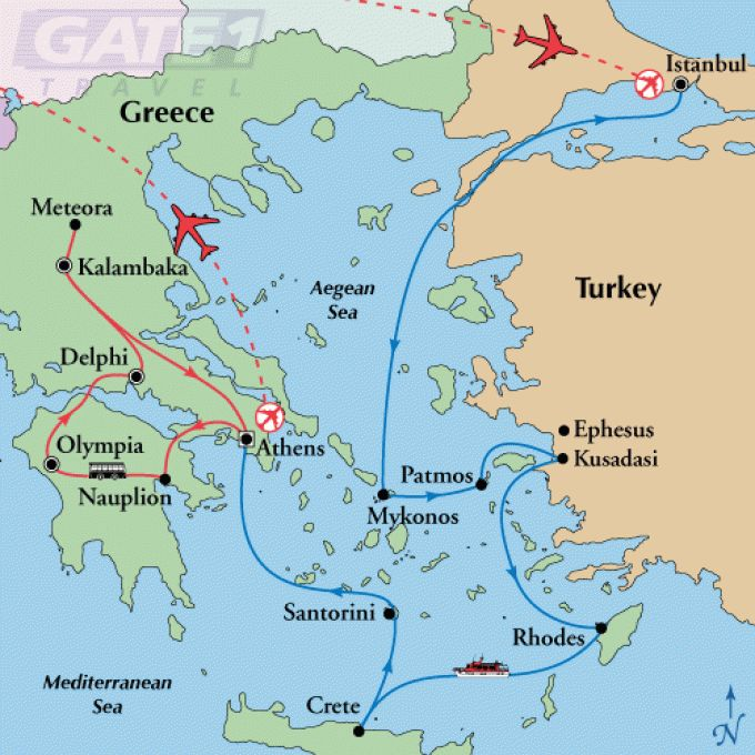 map Greece turkey
