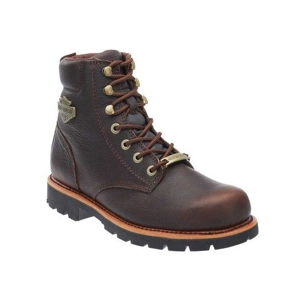 Men's Harley-Davidson Vista Ridge Motorcycle Boot ($160) ❤ liked on Polyvore featuring men's fashion, men's shoes, men's boots, brown, casual, leather boots, harley davidson mens boots, mens brown boots, mens leather ankle boots and mens brown leather boots
