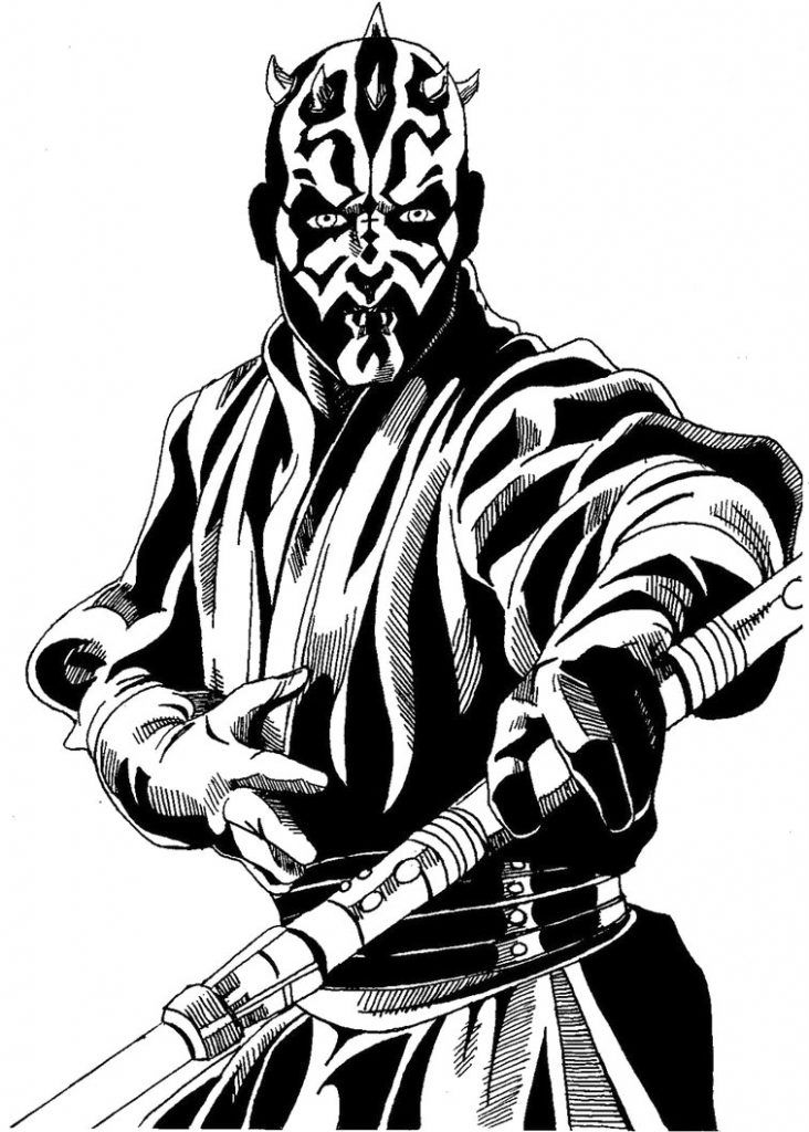 Darth Maul Coloring Pages Coloring Pages Coloring Pages For